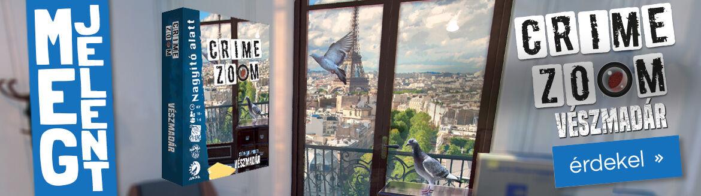 Megjelent: Crime Zoom társasjáték