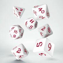 Dobókocka - Classic Runic White/Red (7 db-os szett)