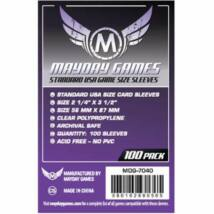 Mayday standard US kártyavédö (sleeve) - 56*87 mm (100 db/csomag)