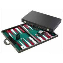 Backgammon, 46 cm-es, fekete műbőr koffer 605513