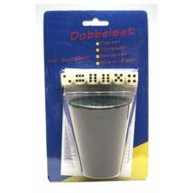Kockavető pohár 5 dobókockával - 730604