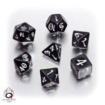 Dobókocka - Classic RPG Black/White (7 db-os szett)