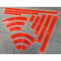Star Wars X-Wing acrylic template set, piros (Rebels)