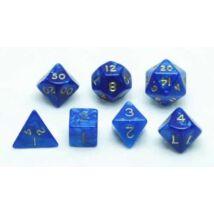 Dobókocka készlet, 7 darabos, kék márvány/gyöngy - 731852