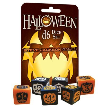 Dobókocka készlet, 6 darabos Halloween dobókocka készlet (D6)