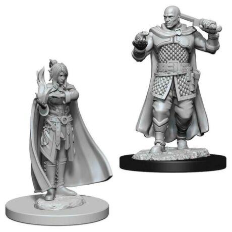 D&D Nolzur's Marvelous Miniatures: Human Ranger & Moon-Elf Sorcerer