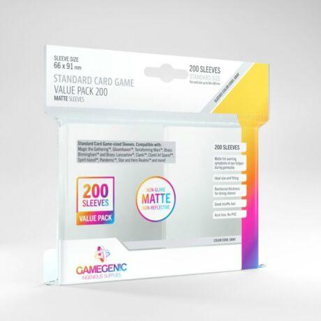GameGenic Value Pack Standard Matte Sleeves (200 db 64x89 mm-es kártyavédő)