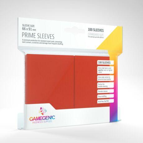 GameGenic Prime Sleeves, piros - 66x91mm (100 db/csomag)