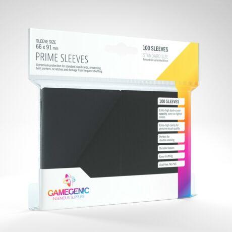 GameGenic Prime Sleeves, fekete - 66x91mm (100 db/csomag)