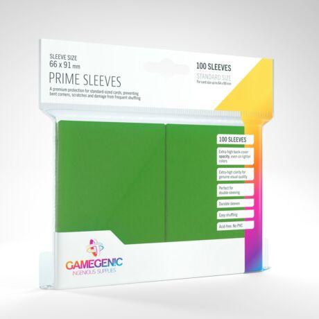 GameGenic Prime Sleeves, zöld - 66x91mm (100 db/csomag)