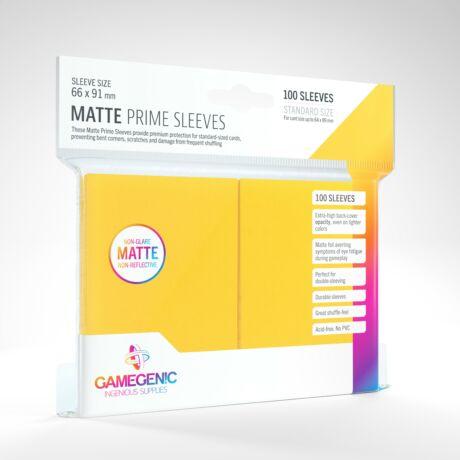 GameGenic Matte Prime Sleeves, sárga - 66x91mm (100 db/csomag)