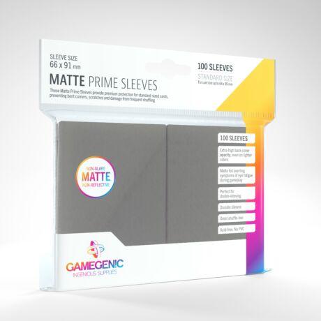 GameGenic Matte Prime Sleeves, szürke - 66x91mm (100 db/csomag)