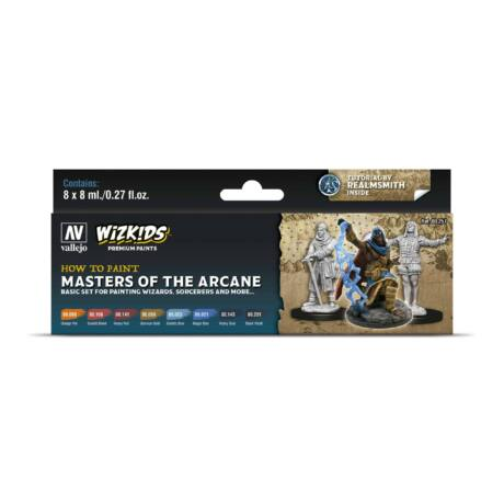 Wizkids Premium set by Vallejo: Masters of the Arcane festékszett