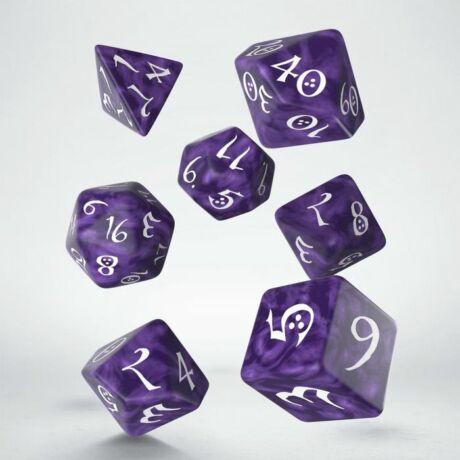 Dobókocka - Classic RPG Lavender/White (7 db-os szett)