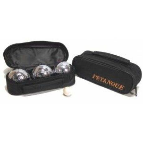 Pétanque, 3 fém golyóval, fekete táskában - 251121