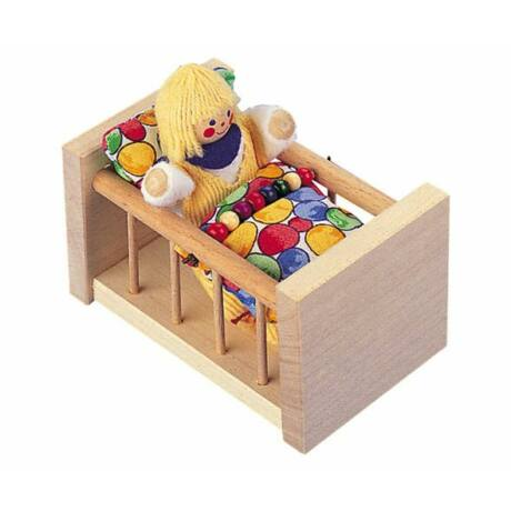 Gitterbett Puppenhauszubehör