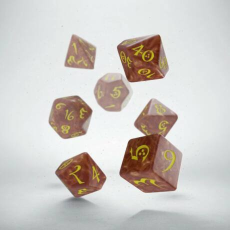 Dobókocka - Classic RPG Caramel/Yellow (7 db-os szett)