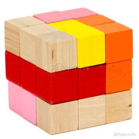 Kígyókocka (piros-narancs) - logikai játék
